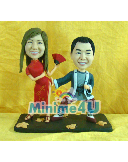 Funny couple minime doll