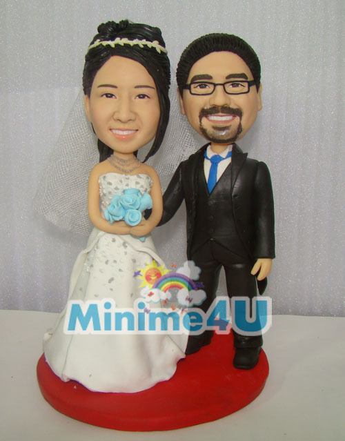 Smileful weddig couple minime doll