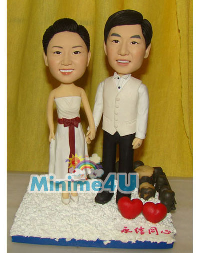 Love forever couple minime doll