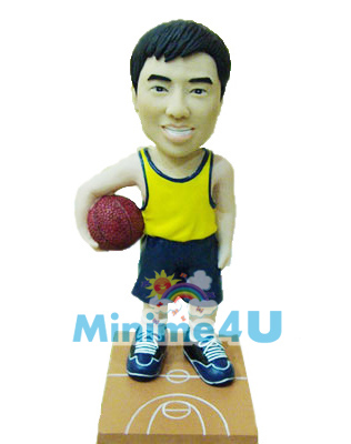 Basketball style mini me doll