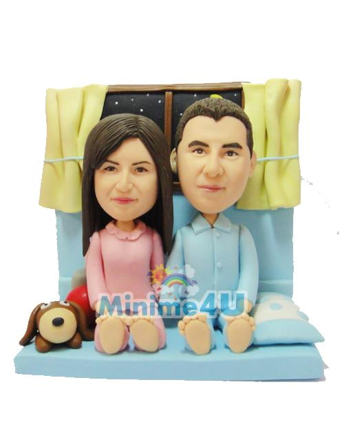 Romatic couple mini me doll