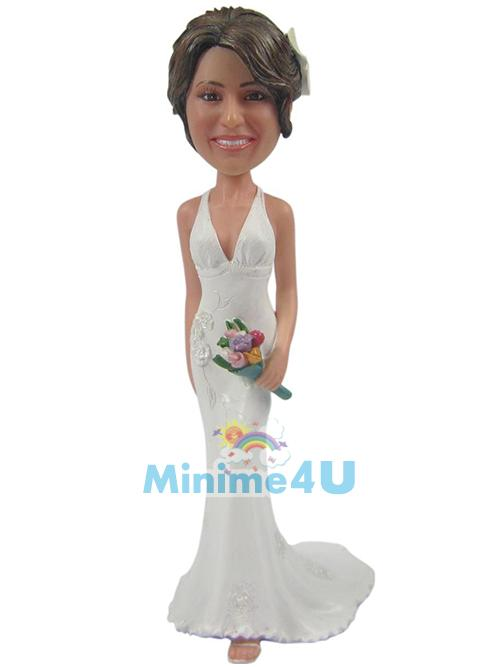 beautiful bridesmaid figure
