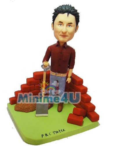 Builder mini me figurine