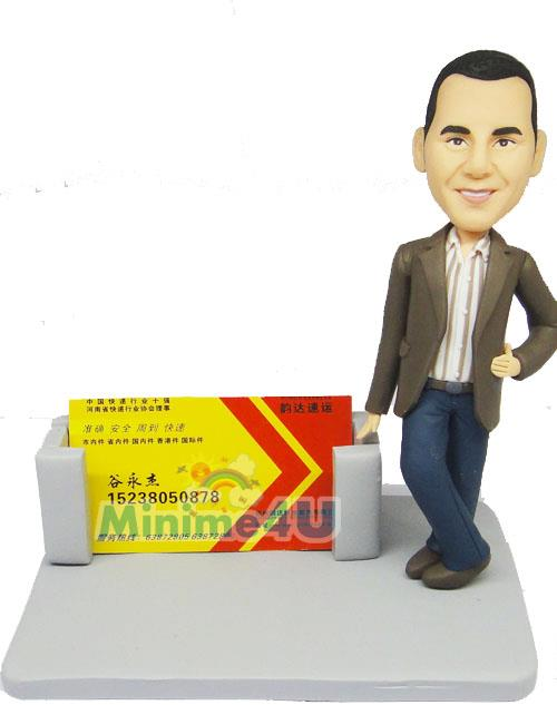 business card holder custom figurine