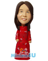 Cheong sam wear mini me doll