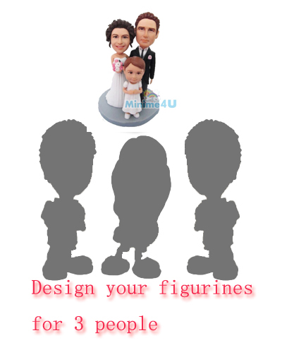 3 people customizable figurines