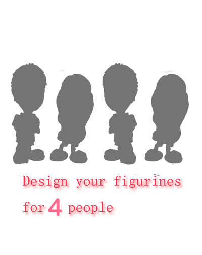 Personalised figurine for 4 people