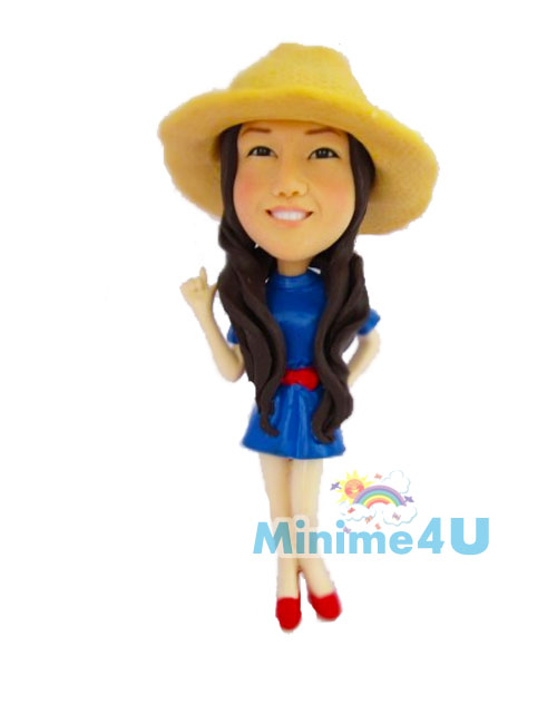 straw hat cute girl