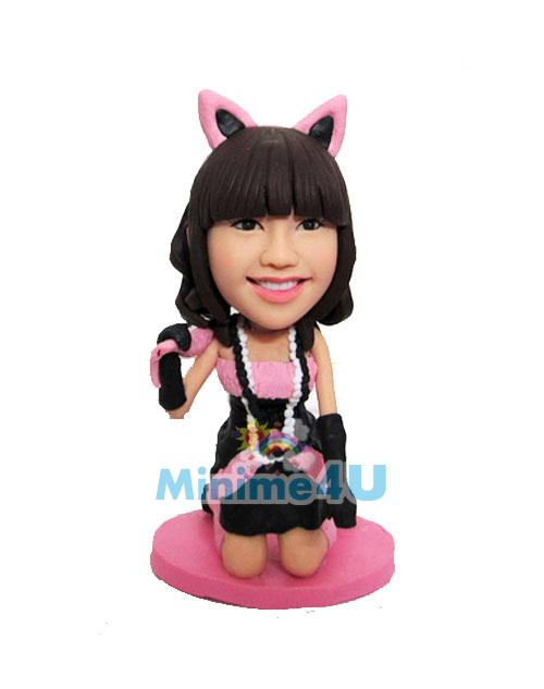 cute cat woman mini me template