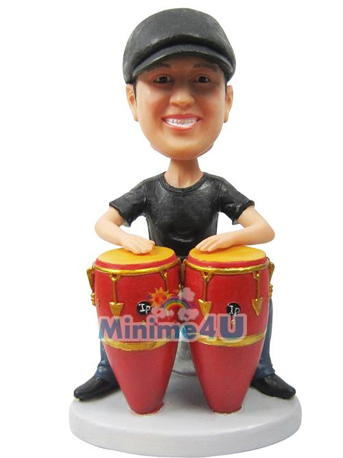 Drum player figure