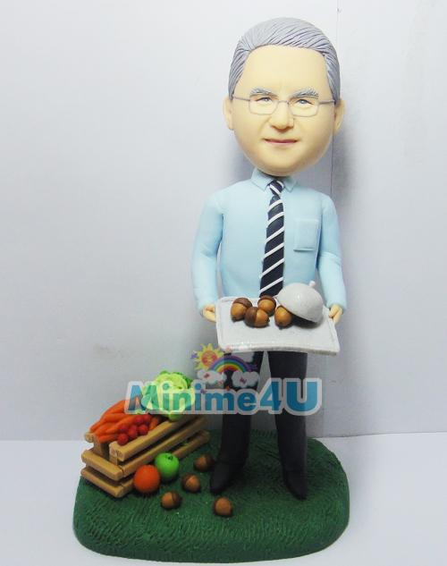 Personalized farmer figure