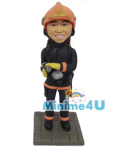 fire fighter figurine template
