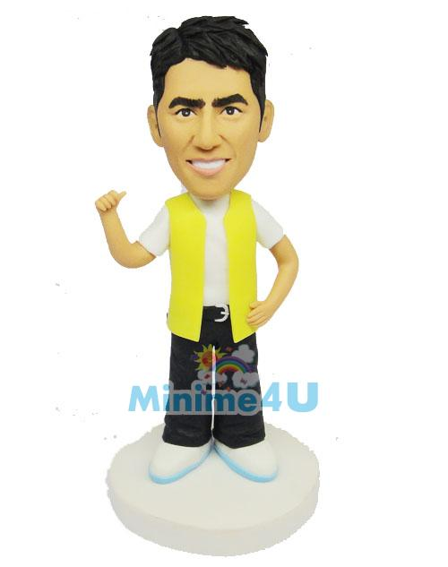handsome man custom figurine - Mini me dolls | Custom wedding cake ...