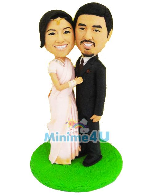custom India style wedding cake topper