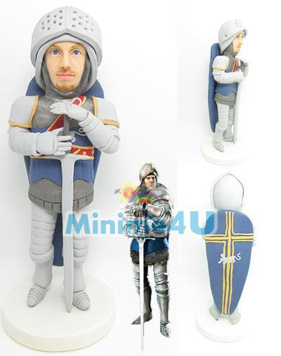 personalized knight figure
