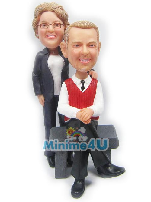 parent anniversary figurine