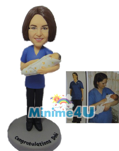 professional midwife figurine template