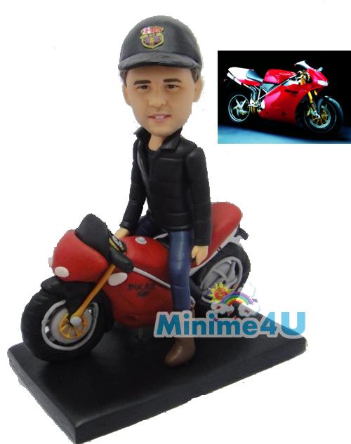 motorbike rider figure