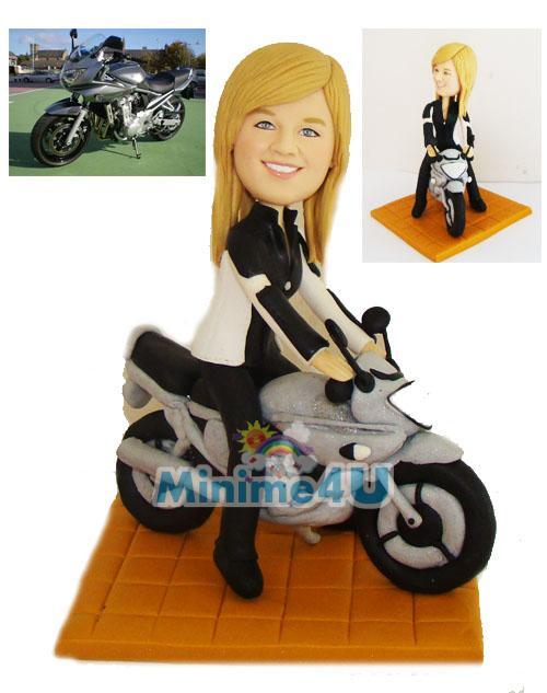 female motorcycle rider