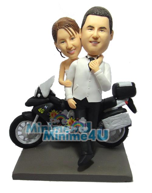 motorcycle wedding cake topper