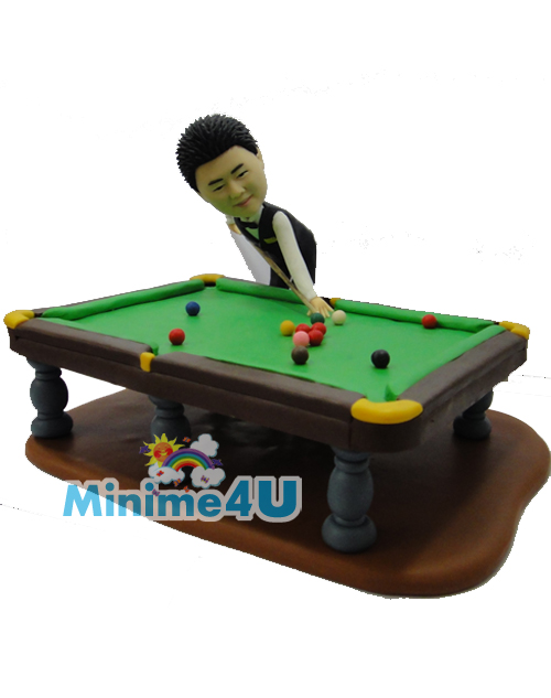Pool table mini me doll