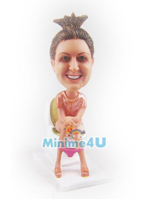 funny toilet lady mini me