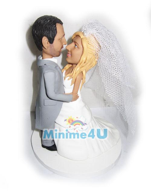 kiss me custom wedding cake topper