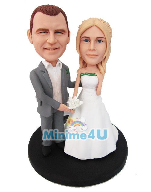 we are married custom wedding cake topper
