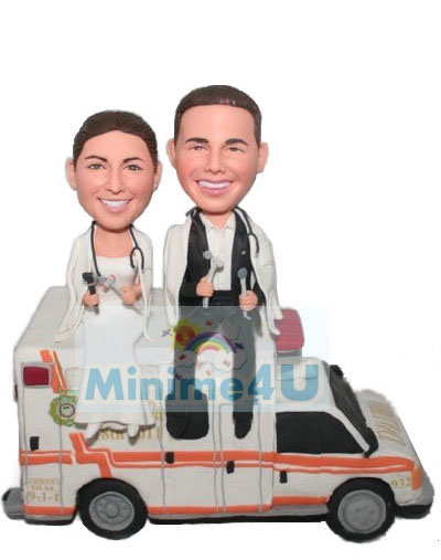 Wedding cake topper for doctors