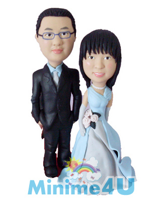 Formal wedding couple minime doll